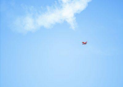 Biplane Smoke Heart